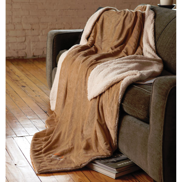 Customized Oversized Micro-Mink Sherpa Blanket