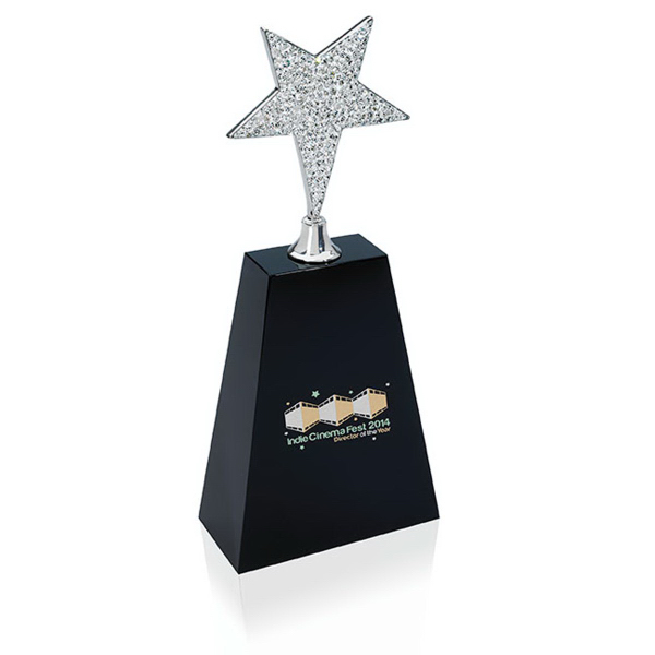 Personalized Medium Rhinestone Star Award