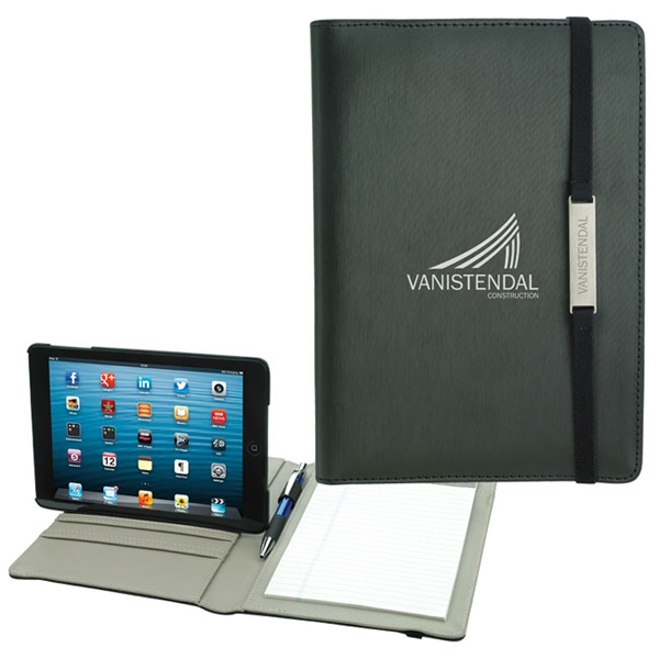 Custom Rotating Case Tech Padfolio for Mini Tablet