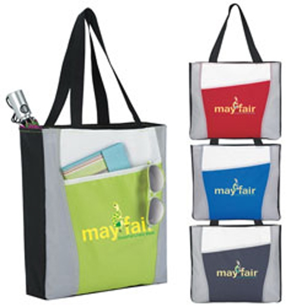 Imprinted Color Accent Tote