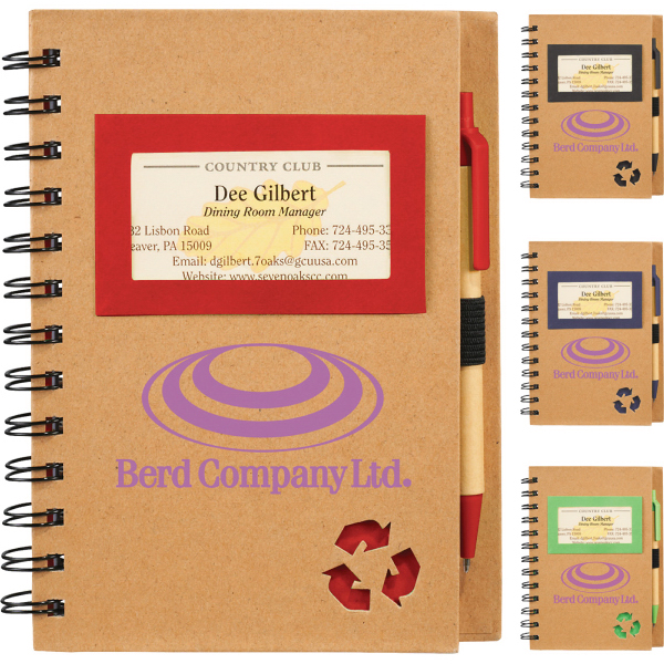 Printed Eco Star Notebook & Pen