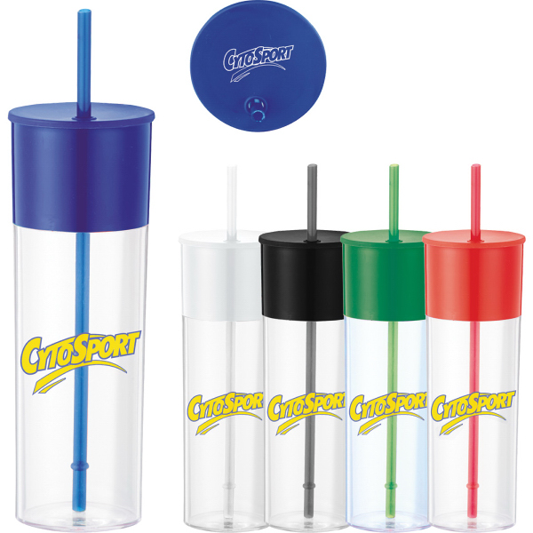 Custom Color Band 22 oz. Tumbler with Straw