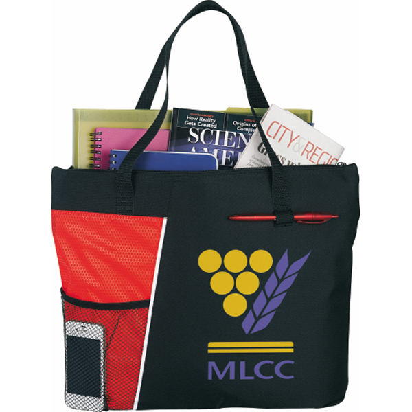 Imprinted The Touch Base Meeting Tote