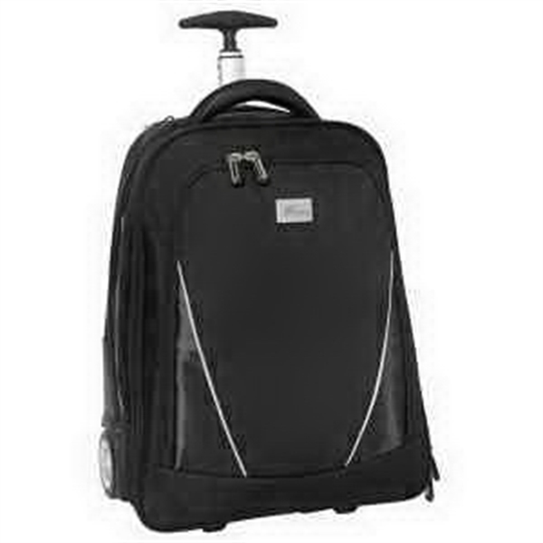 Imprinted Vector Wheeled Computer Backpack