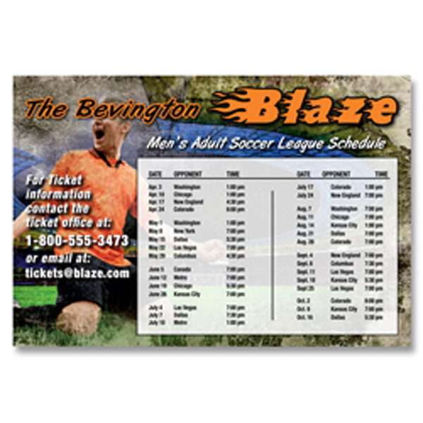 """Printed 4"""" x 5 7/8"""" Schedule Magnet"""