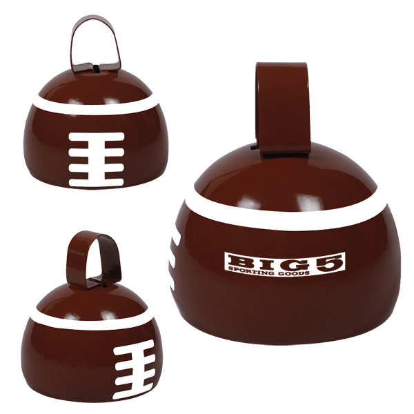 Imprinted Football Cow Bell