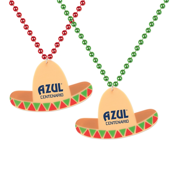 Personalized Sombrero Medallion Beads