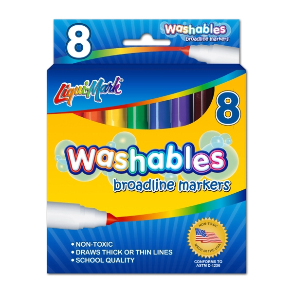 Personalized 8 Pack Washable Markers