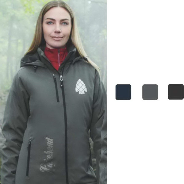 Printed Women's bryce insulated softshell jacket