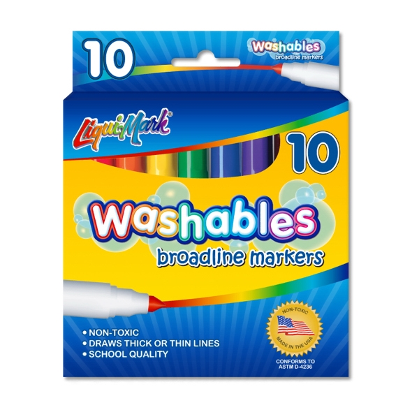 Custom 10 Pack Washable Markers