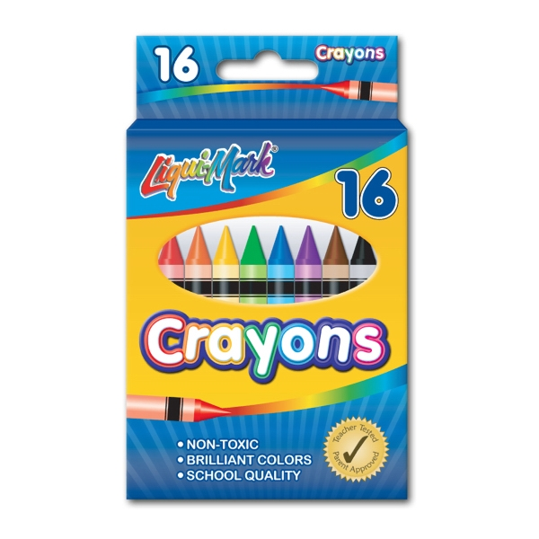 Promotional 16 Pack Crayons - Assorted Colors