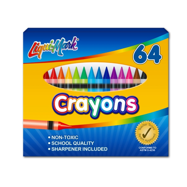 Custom 64 Pack Crayons with Sharpener