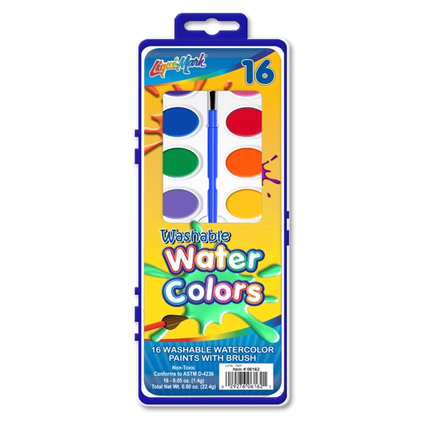 Personalized 16 Color Washable Watercolor Paint Set