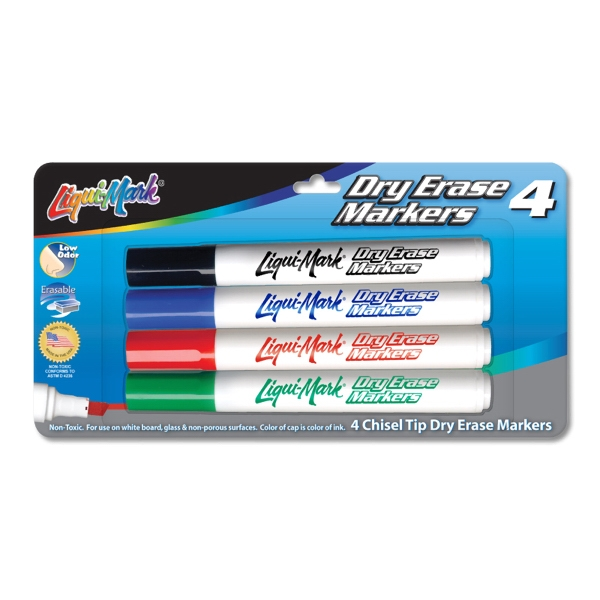 Printed 4 Pack Dry Erase Markers - Made in the USA