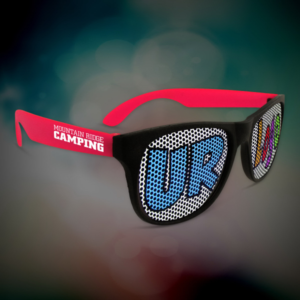 Personalized Custom Red Neon Billboard Sunglasses