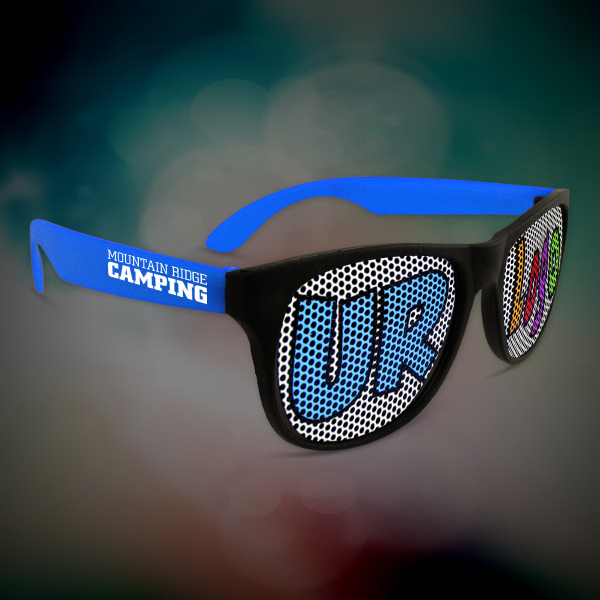 Personalized Custom Blue Neon Billboard Sunglasses
