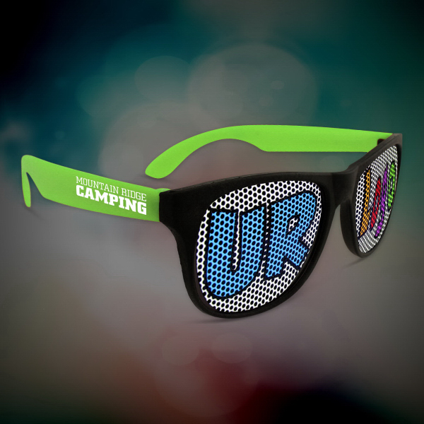 Promotional Custom Green Neon Billboard Sunglasses