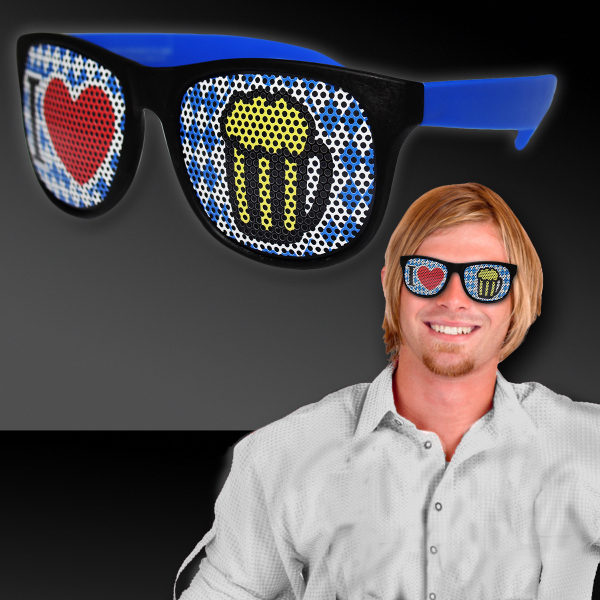 Printed Bavarian inspired Oktoberfest Billboard Sunglasses