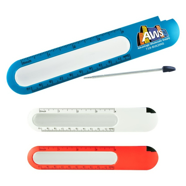 Custom Ruler with Magnifier and Pen