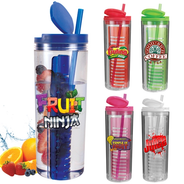 Printed 20 Oz Infuser Tumbler Full Color Digital