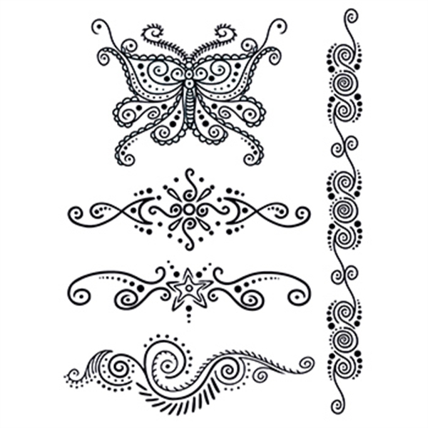 Personalized Henna: Mystery Temporary Tattoo Set