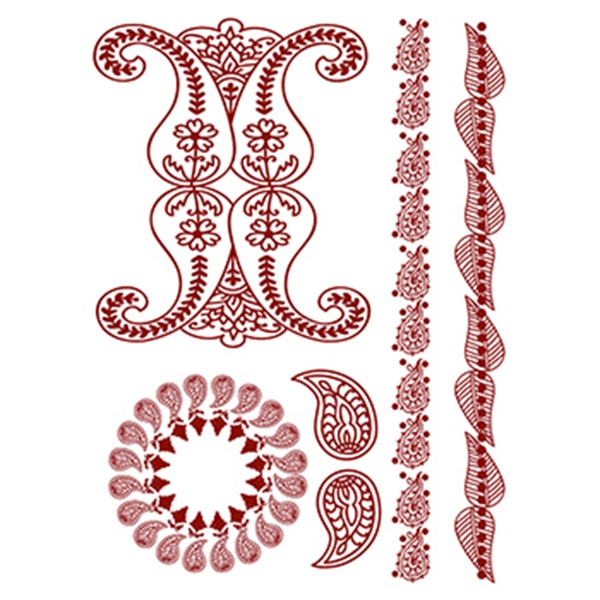 Personalized Henna: Simply Red Temporary Tattoo