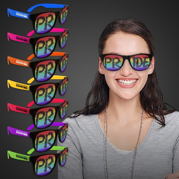 Promotional Rainbow Pride Billboard Sunglasses