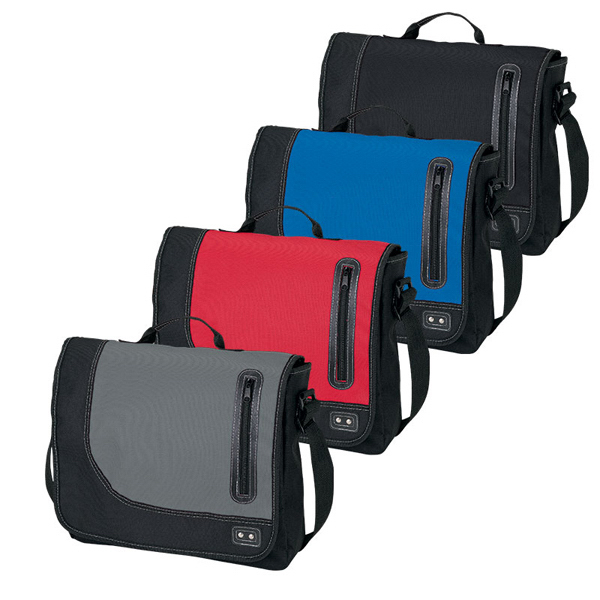 Promotional Front Pocket Messenger Bag