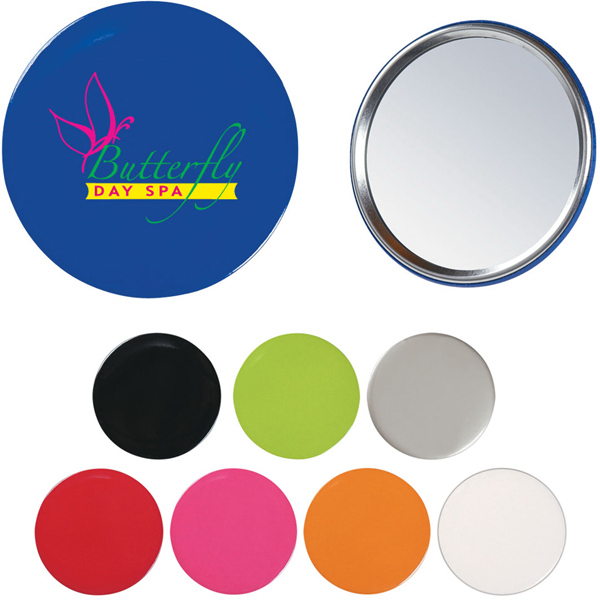 Imprinted Round Hand Mirror