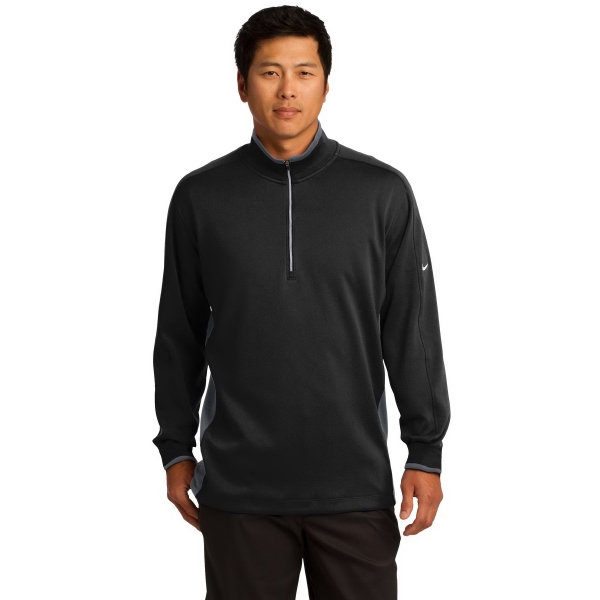 Printed Nike Golf Dri-Fit 1/2-Zip Cover Up