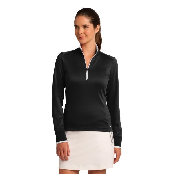Custom Nike Golf Ladies' Dri-Fit 1/2-Zip Cover Up
