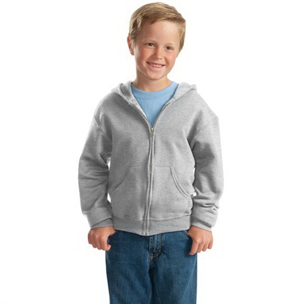 Promotional Jerzees® Youth Nublend (R) full-zip hooded sweatshirt