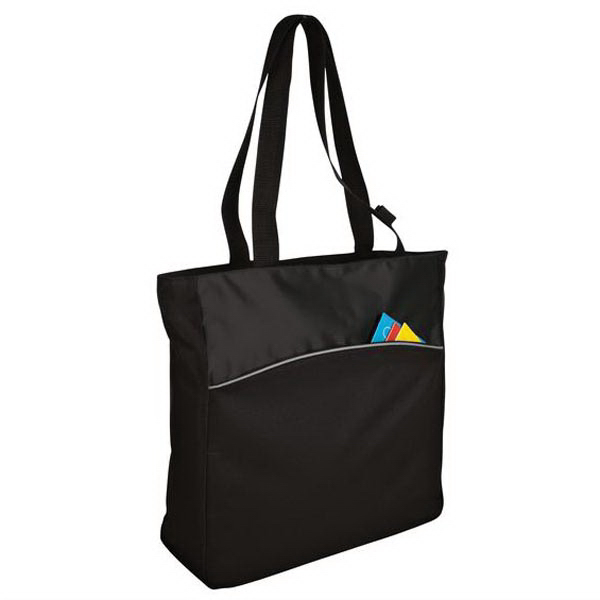 Customized Port & Company® two-tone colorblock tote