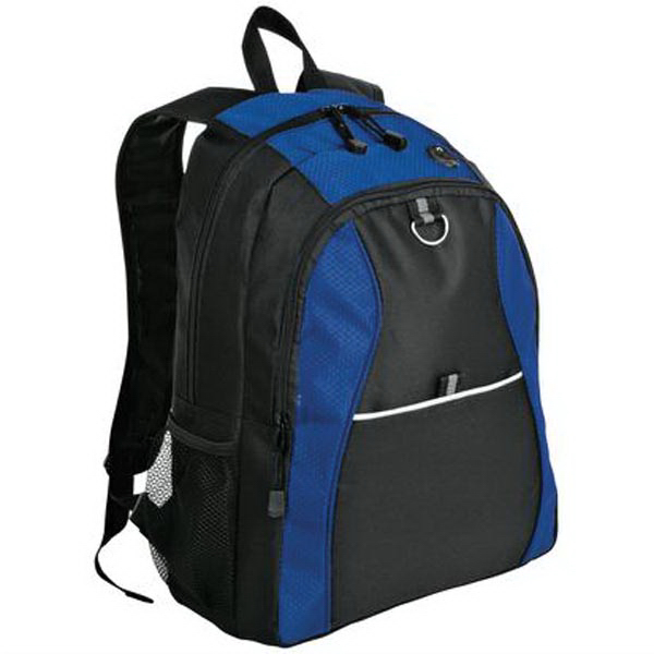 Promotional Port & Company® contrast honeycomb backpack