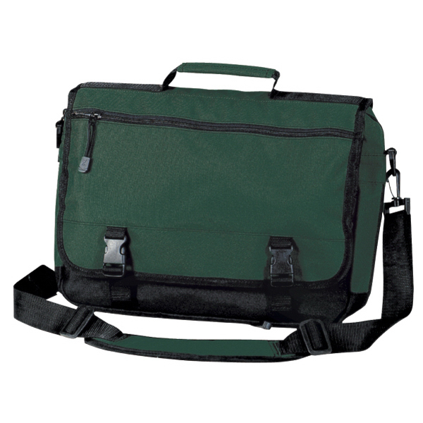 Printed Port & Company® basic expandable briefcase