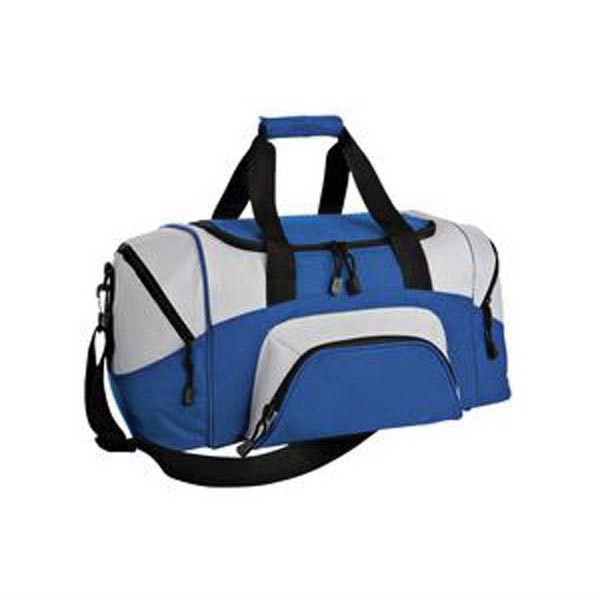 Custom Port & Company® colorblock small sport duffel
