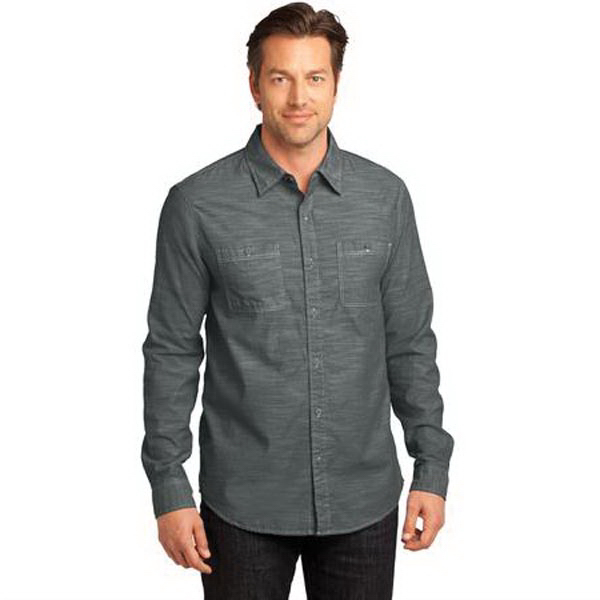 Personalized District Made (TM) - Men's Long Sleeve Washed Woven Shirt