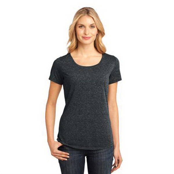 Personalized District Made (TM) Ladies' Tri-Blend Lace Scoop Tee