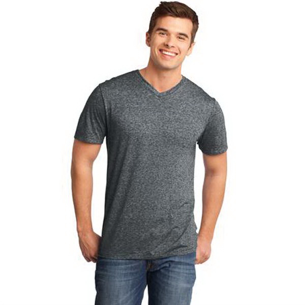 Imprinted District (R) Young Men's Microburn (TM) V-Neck Tee