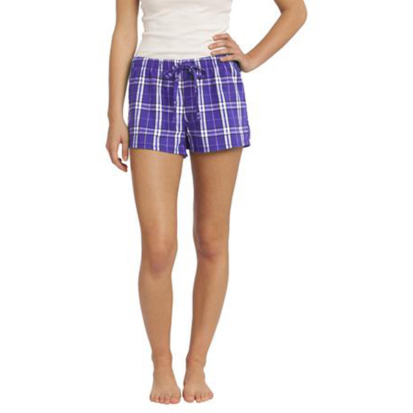 Imprinted District® Juniors Flannel Plaid Boxer
