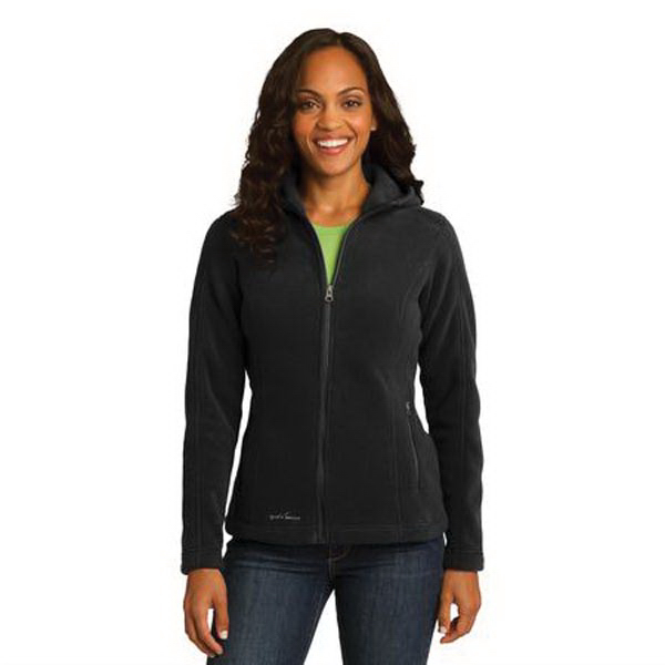 Promotional Eddie Bauer (R) ladies' hooded full-zip fleece jacket