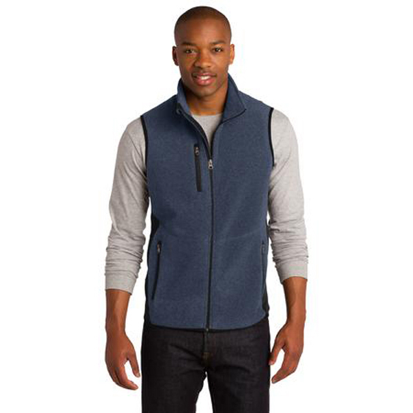 Printed Port Authority® R-Tek (R) Pro Fleece Full-Zip Vest