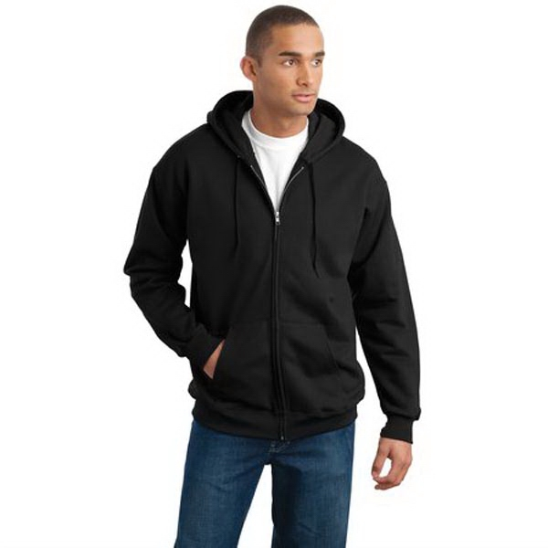 Printed Hanes® Ultimate Cotton® full-zip hooded sweatshirt