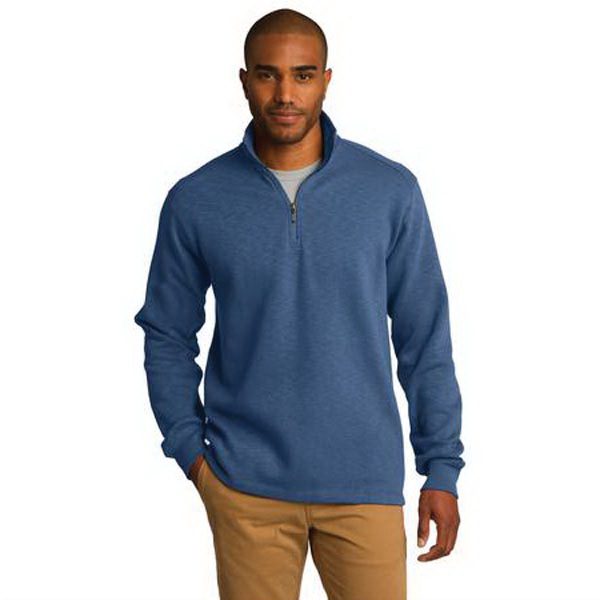 Personalized Port Authority® slub fleece 1/4-zip pullover
