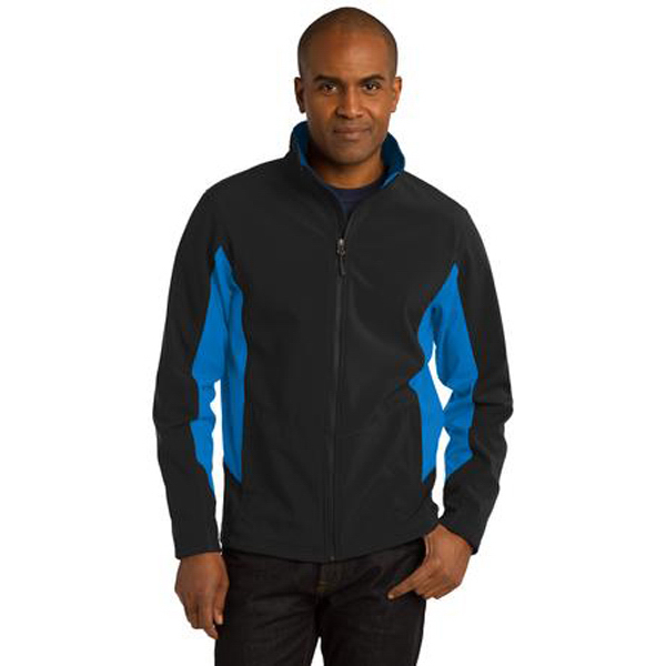 Personalized Port Authority (R) core colorblock soft shell jacket
