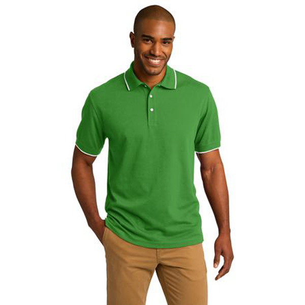 Imprinted Port Authority® Rapid Dry Tipped Polo