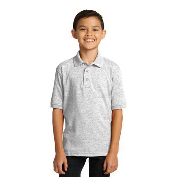 Personalized Port & Company (R) Youth 5.5 ounce Jersey Knit Polo
