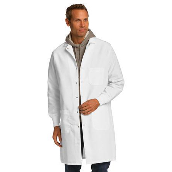 Imprinted Red Kap® specialized cuffed lab coat