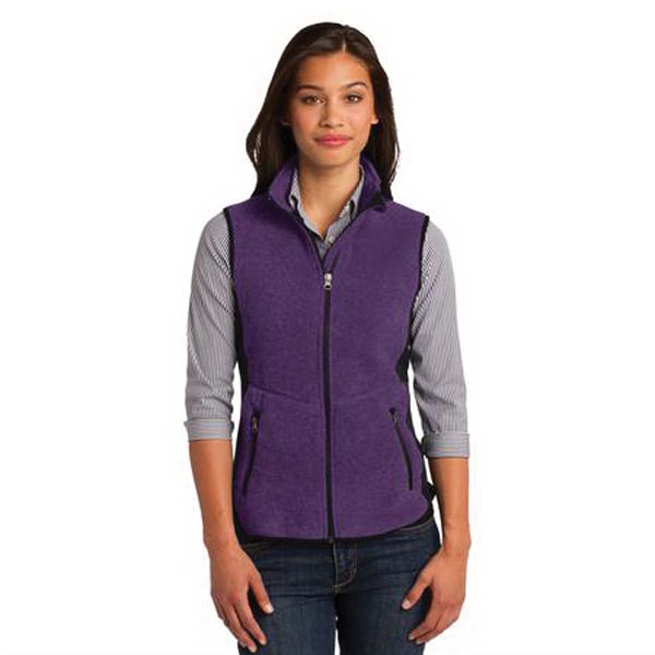 Imprinted Port Authority® Ladies' R-Tek (R) Pro Fleece Full-Zip Vest