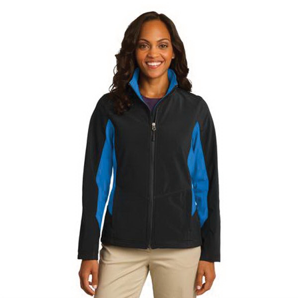 Custom Port Authority (R) ladies' core colorblock soft shell jacket